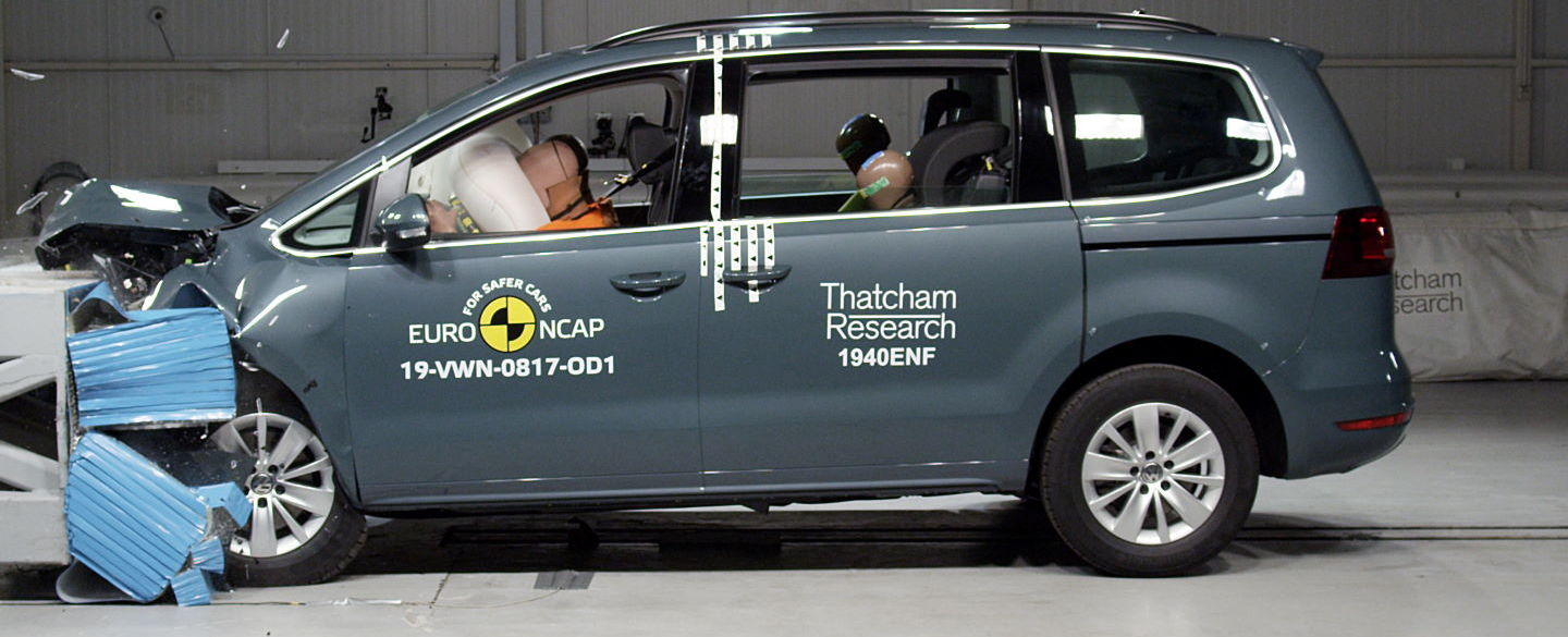 Crashtest - VW Sharan - 2019-12-04